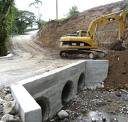 Culvert construction, Volcan Pacifica, Panama.