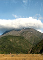 Volcan Baru, Panama with clouds.